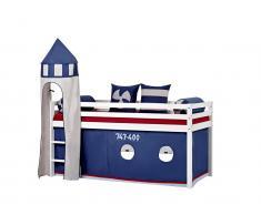 Turm für Spielbett, Halbhoch Bett, Höhe 185cm, Hoppekids Aeroplane,
