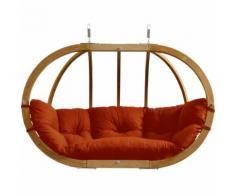 XXXL Shop HÄNGESESSEL Textil Orange, Holz, Echtholz, 176x118x72 cm