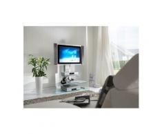 TV-Rack, Höhe 122 cm, NECKERMANN Silber