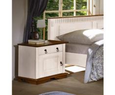 SEVILLA Nachttisch Nachtkommode 90-60 Kiefer massiv weiß