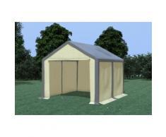 Partyzelt Pavillon 3x4m Modular Pro PVC wasserdicht grau / beige
