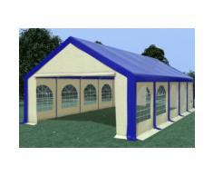 Partyzelt Festzelt 5x10m Modular Pro PVC wasserdicht blau / beige