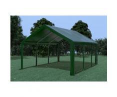 Partyzelt Pavillon 4x6m Modular Pro PE wasserdicht grün