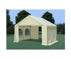 Partyzelt Pavillon 4x4m Modular Pro PVC wasserdicht beige