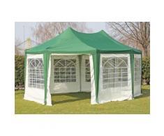 Pavillon 4x5,5m grün Polyester / PVC Pagodenzelt Arabica wasserdicht