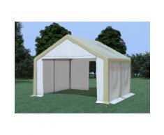 Partyzelt Pavillon 4x4m Modular Pro PVC wasserdicht braun / weiß