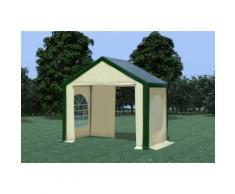Partyzelt Pavillon 3x2m Modular Pro PVC wasserdicht grün / beige