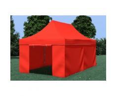 Faltpavillon Stahl 3x6 m Premium rot wasserdicht Faltzelt