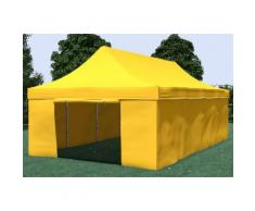 Faltpavillon ALU 4x8 m ProfessionalPlus gelb wasserdicht Faltzelt