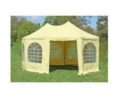 Pavillon 4x5,5m beige PVC Pagodenzelt Arabica Profi wasserdicht