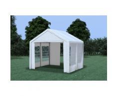 Partyzelt Pavillon 3x3m Classic Premium PVC wasserdicht weiß