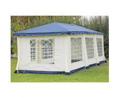 Pavillon 3x6m blau Polyester / PVC Gartenpavillon DeLuxe wasserdicht