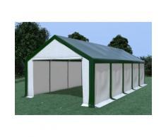 Partyzelt Lagerzelt 4x10m Modular Pro PVC wasserdicht grün / weiß