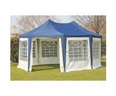 Pavillon 4x5,5m blau Polyester / PVC Pagodenzelt Arabica wasserdicht