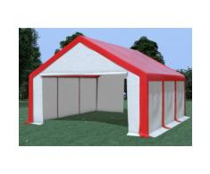 Partyzelt Pavillon 5x6m Modular Pro PVC wasserdicht rot / weiß