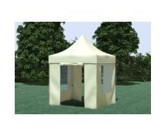 Faltpavillon ALU 2x2 m Professional beige wasserdicht Faltzelt