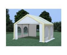 Partyzelt Pavillon 4x4m Modular Pro PVC wasserdicht beige / weiß