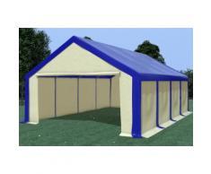 Partyzelt Lagerzelt 5x8m Modular Pro PVC wasserdicht blau / beige