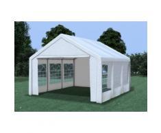 Partyzelt Pavillon 4x5m Classic Premium PVC wasserdicht weiß