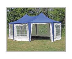 Pavillon 5x6,8m blau Polyester / PVC Pagodenzelt Arabica wasserdicht