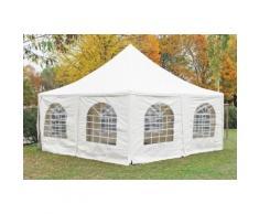 Pavillon 5x5m weiß PVC Pagodenzelt Arabica Profi wasserdicht