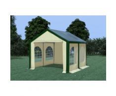 Partyzelt Pavillon 3x4m Modular Pro PVC wasserdicht grün / beige