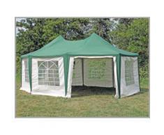 Pavillon 5x6,8m grün Polyester / PVC Pagodenzelt Arabica wasserdicht