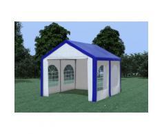 Partyzelt Pavillon 3x4m Modular Pro PE wasserdicht blau / weiß