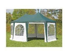 Pavillon 4x5,5m grün / weiß PVC Pagodenzelt Arabica Profi wasserdicht