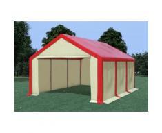 Partyzelt Pavillon 4x6m Modular Pro PVC wasserdicht rot / beige