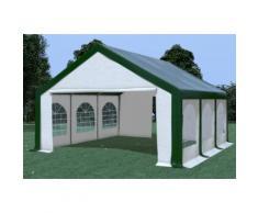Partyzelt Pavillon 5x6m Modular Pro PVC wasserdicht grün / weiß