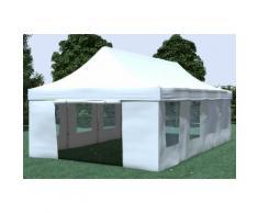 Faltpavillon ALU 4x8 m ProfessionalPlus weiß wasserdicht Faltzelt