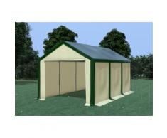 Partyzelt Pavillon 3x6m Modular Pro PVC wasserdicht grün / beige