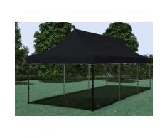 Faltpavillon ALU 3x9 m Professional schwarz wasserdicht Faltzelt