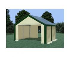 Partyzelt Pavillon 4x4m Modular Pro PVC wasserdicht grün / beige