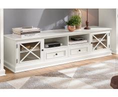 Home Affaire TV-Lowboard »Cross«, weiß, pflegeleichte Oberfläche