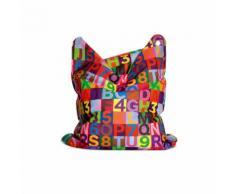 Sitting Bull Fashion Bag Mini Sitzsack für Kinder, Abc, Buchstaben- und Zahlenmuster