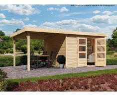 KARIBU WOODFEELING Gartenhaus SPARSET Askola 3 19 mm naturbelassen