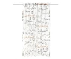 Home Fashion 95486-502 creme H:160 x B:140 cm Vorhang, Dekostoff, Bedruckt