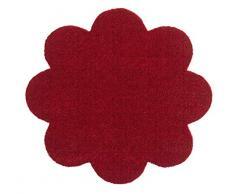 Hanse Home Waschbare Schmutzfangmatte Soft & Clean Bordeaux in Blumenform, 67x67 cm