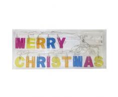 Idena LED Lichterkette Merry Christmas, batteriebetrieben, 8582149