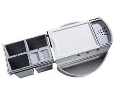 Hailo 3647241 Abfallsammler Rondo 90.4/40 P für Diagonal-Eckspülenschränke ab 900 mm Breite