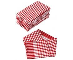 Captain Clean 113251 Geschirrtücher Baumwolle 40 x 60 x 10 cm, rot