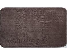 Linea Due 3D Badematte 100% Polyester, Ultra Soft und saugfähig, Badteppich Rutschfest, ÖKO-TEX-Zertifiziert, 5 Jahre Garantie, Feeling, Badteppiche 70x120 cm, kakao