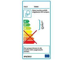 EGLO LED Außen-Wandlampe Sesimba, 2 flammige Außenleuchte, Wandleuchte aus Stahl und Kunststoff, Farbe: Schwarz, IP44