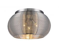 RABALUX Deckenleuchte, Metall, E27, Silber