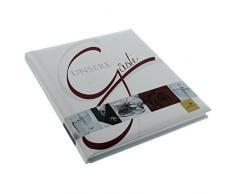 Goldbuch Gästebuch mit Lesezeichen, Wedding, 23 x 25 cm, 176 weiße Blankoseiten Schreibpapier, Kunstdruck laminiert, Weiß, 48055