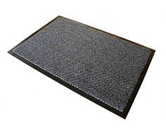 Doortex Schmutzfangmatte Fußmatte advantagemat, 60 x 90 cm, Schwarz und weiß, für den Innenbereich