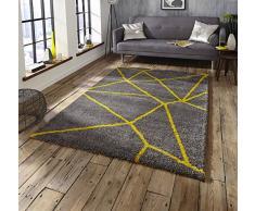 Think Rugs Teppich, Polypropylen, grau, 120 x 170 cm