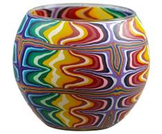 Himmlische Düfte Geschenkartikel CC01 Regenbogen Windlicht Glas 11 x 11 x 9 cm, bunt